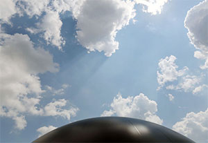 Digester's domed roof.  (Gus Chan / The Plain Dealer)